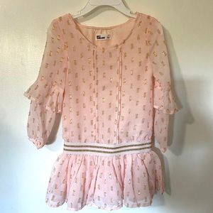Epic Threads Pink and Gold Glitter Toddler Dress